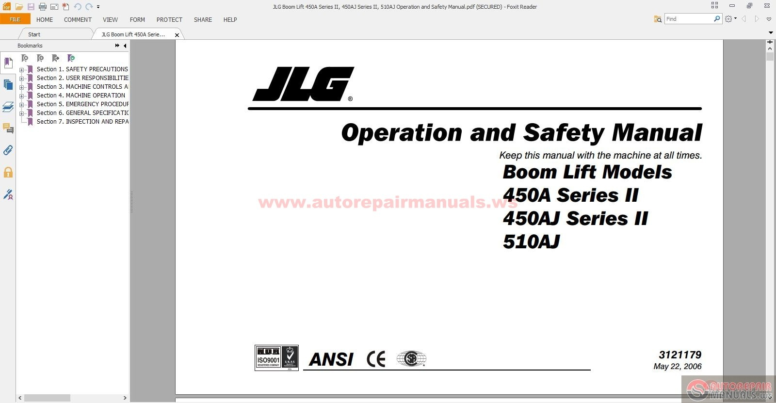 jlg boom lift 450a series ii 450aj series ii 510aj operation and jlg boom lift 450a series ii 450aj series ii 510aj operation and safety manual size 3 45mb language english type pdf pages 112