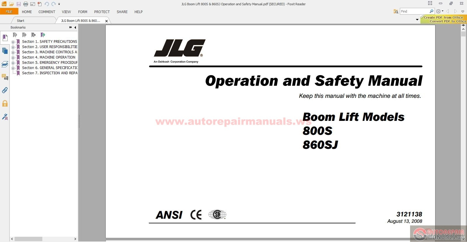 jlg boom lift 800s 860sj operation and safety manual auto jlg boom lift 800s 860sj operation and safety manual size 4 92mb language english type pdf pages 138