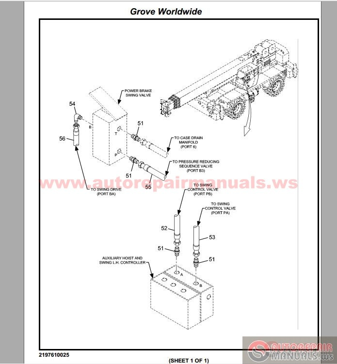 manitowoc cranes grua hidraulica rt9000e parts manual