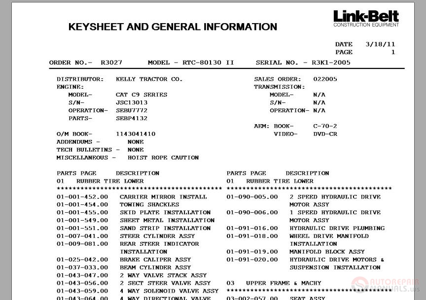 Link_Belt_RTC80130_Parts_Manual link belt rtc80130 parts manual auto repair manual forum heavy link belt 3400 excavator wiring diagram at gsmportal.co