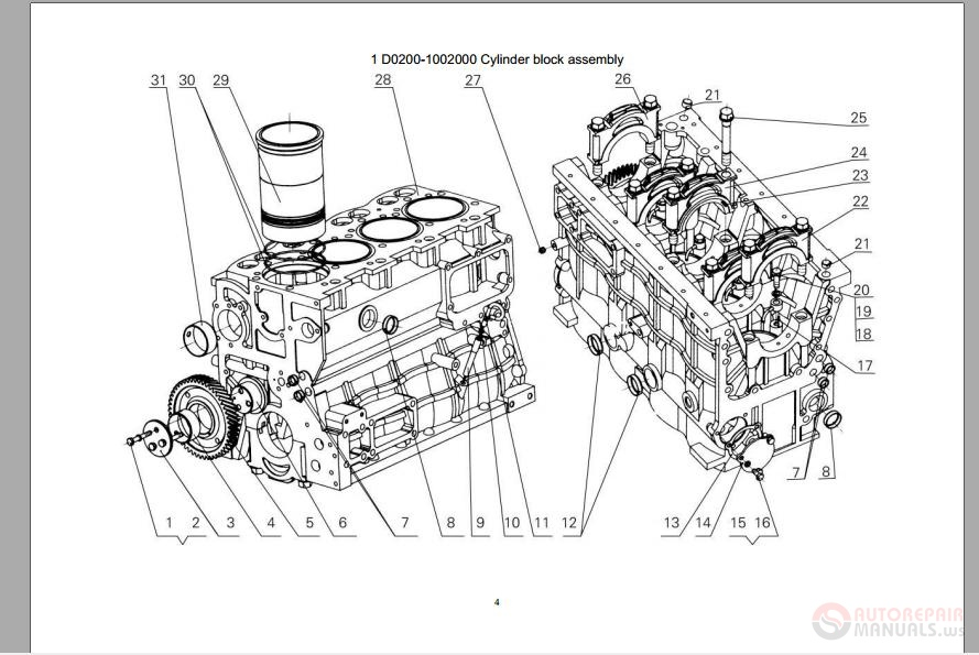 yuchai diesel engine yc4d parts catalog