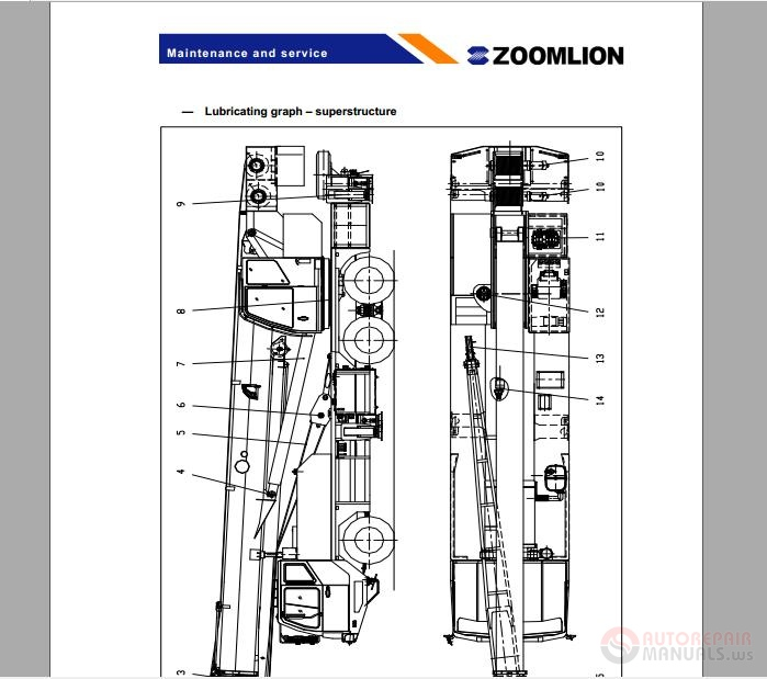 zoomlion truck crane qy30v operators manual