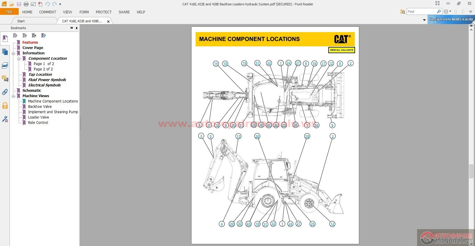 CAT_416E422E_and_428E_Backhoe_Loaders_Hydraulic_System2 cat 416e,422e and 428e backhoe loaders hydraulic system auto cat 416 wiring diagram at edmiracle.co