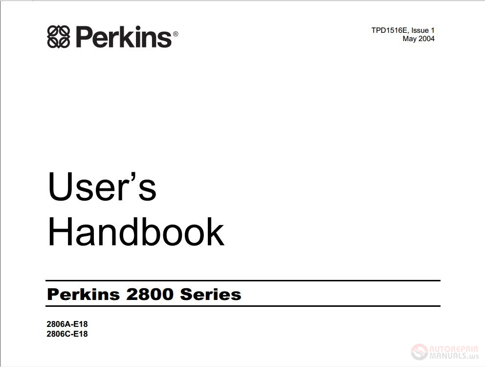 Perkins 2800 Series User U2019s Handbook