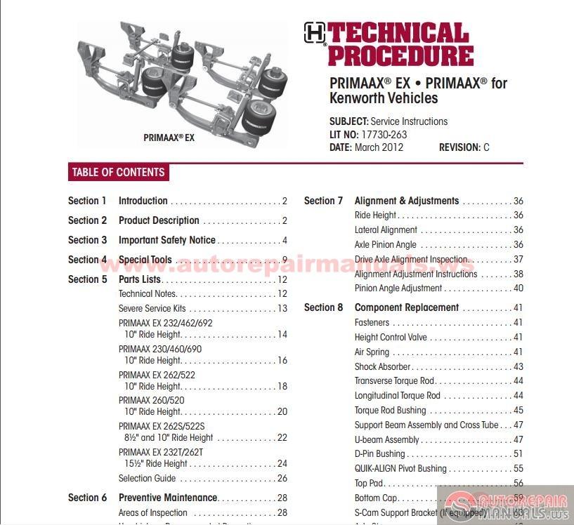 Hendrickson  Primaax EX For    Kenworth    Vehicles  Technical