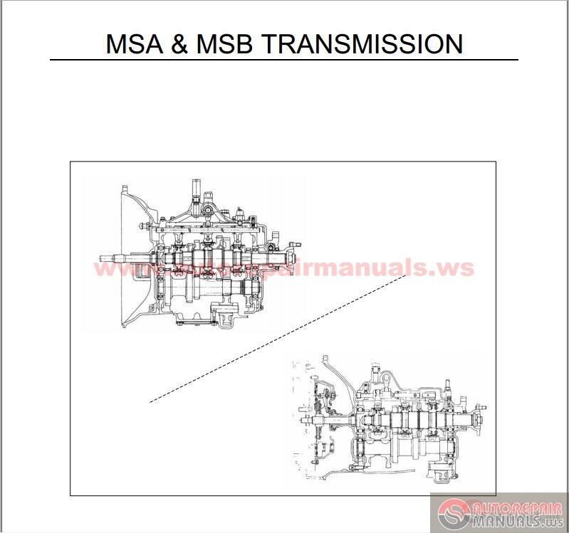 isuzu nkr msa msb transmission auto repair manual. Black Bedroom Furniture Sets. Home Design Ideas