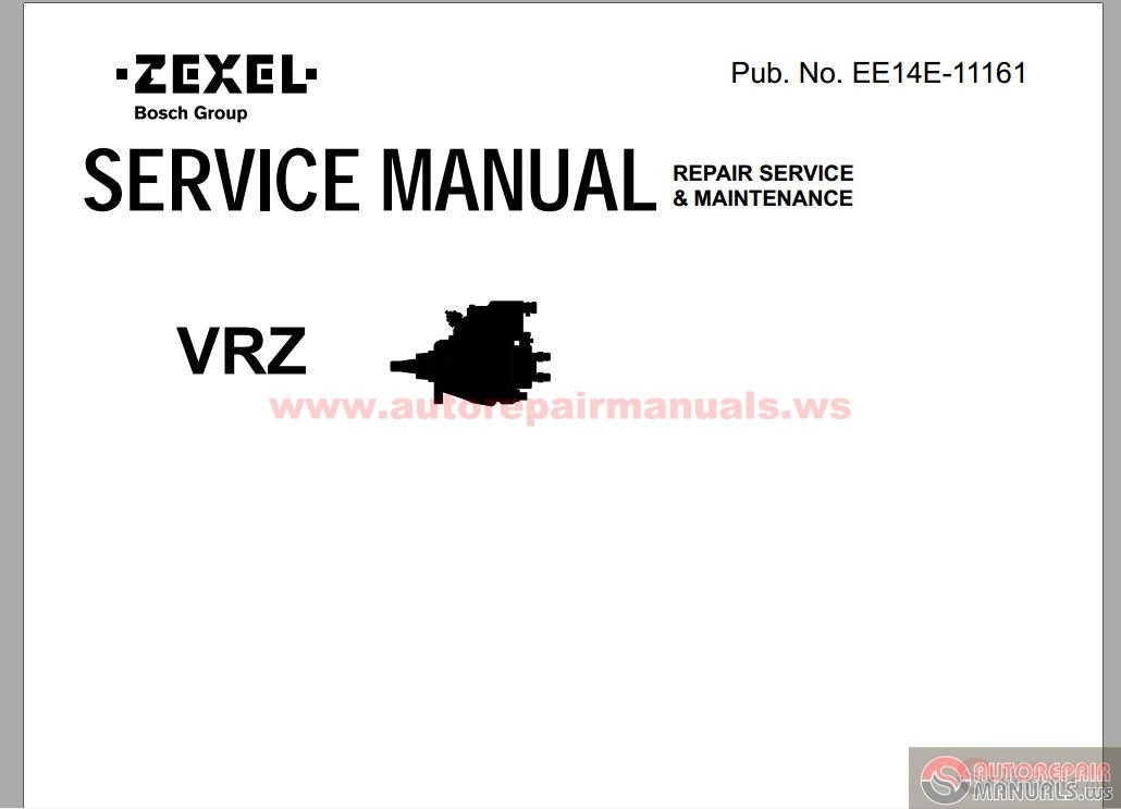 zexel vrz repair service  u0026 maintenance manual parts 1