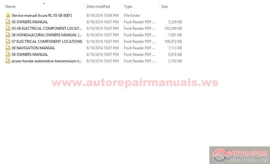 2005 acura rl repair manual pdf