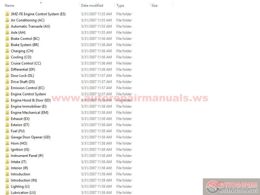 Lexus Rx 330 2006 Repair Manual