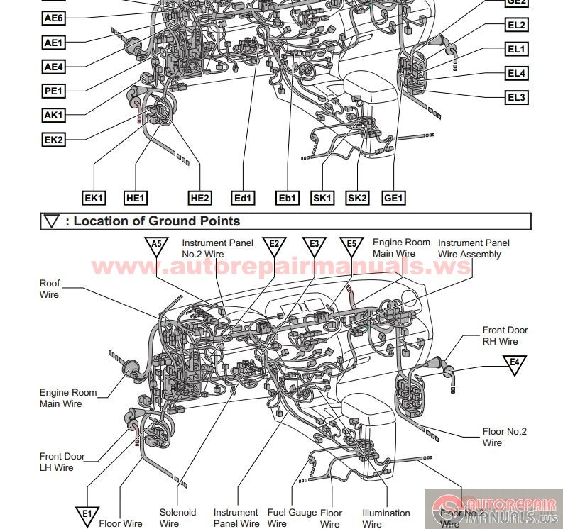 toyota rav4 2007 electrical wiring diagram auto repair manual