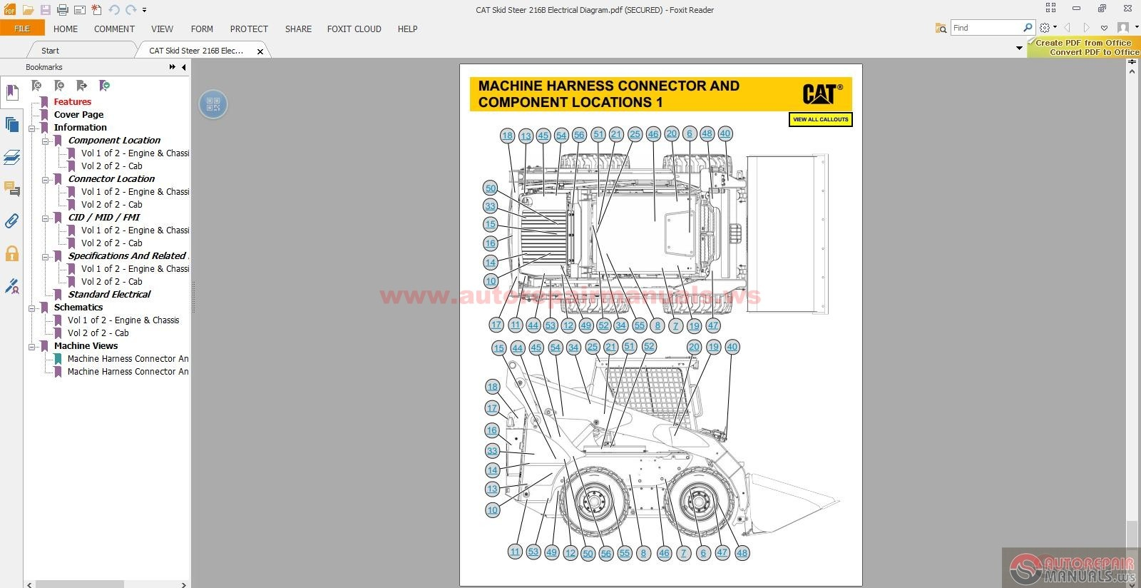 cat skid steer 216b electrical diagram auto repair manual forum