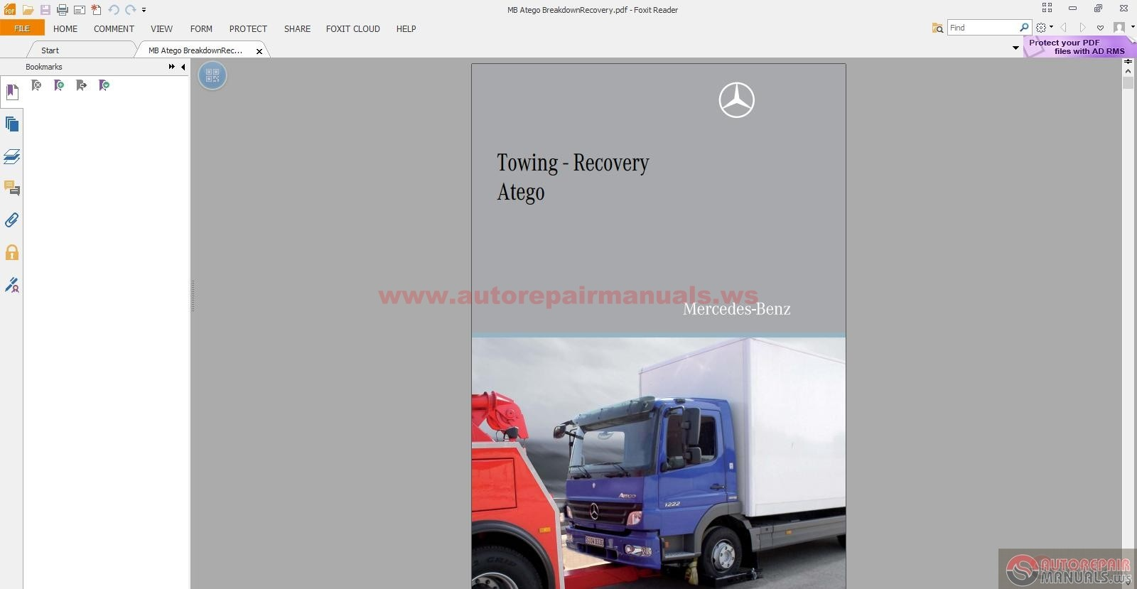 mercedes benz towing recory atego guidelines for breakdown service rh autorepairmanuals ws Mercedes Atego 1223 Mercedes Atego Serial Number