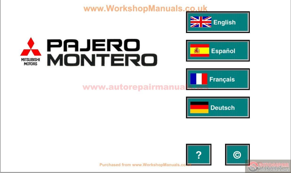 Mitsubishi Pajero Iii 2000 Service Manual Auto Repair Manual Forum Heavy Equipment Forums