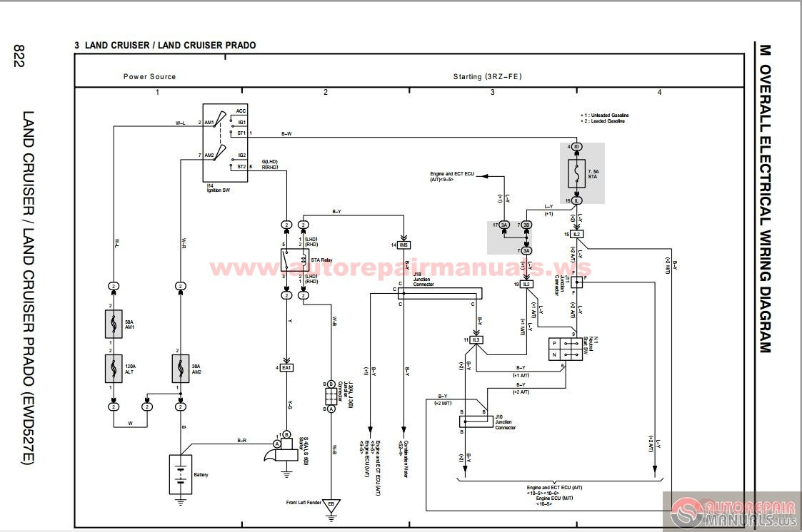 Toyota Landcruiser Prado 2004 2005 Electronic Wiring Diagram on 1993 toyota 22re