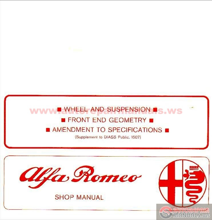 alfa romeo classics workshop and users manual