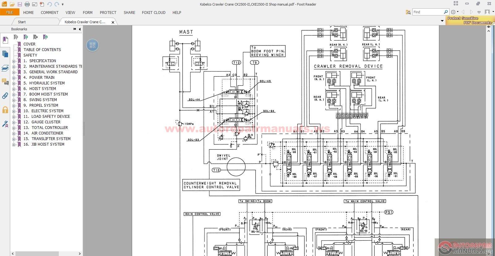 Kobelco_Crawler_Crane_CK2500 IICKE2500 II_Shop_manual5 kobelco crawler crane ck2500 ii,cke2500 ii shop manual auto kobelco sk200 wiring diagram at readyjetset.co
