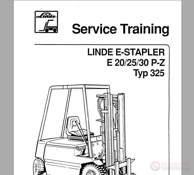 linde e-stapler e20 25 30 p-z typ325 service training