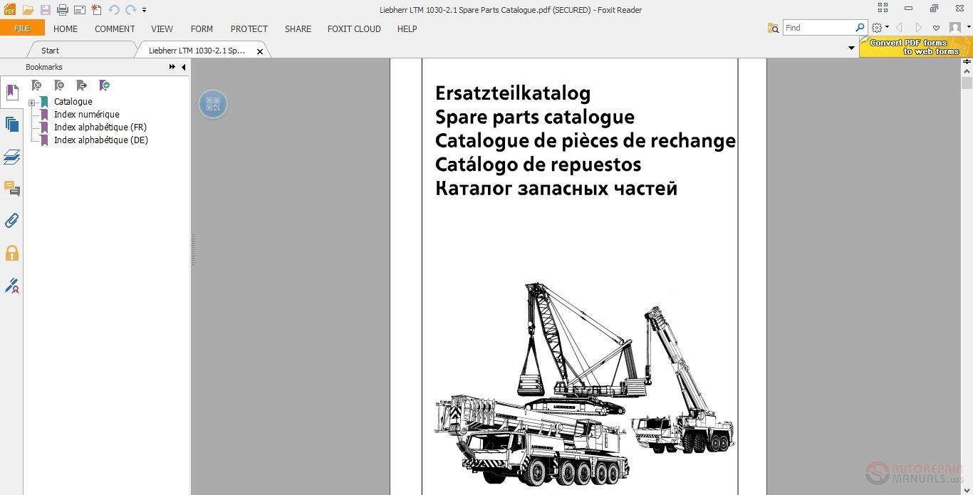 Liebherr Mobile Crane Spare Parts : Liebherr ltm spare parts catalogue auto repair