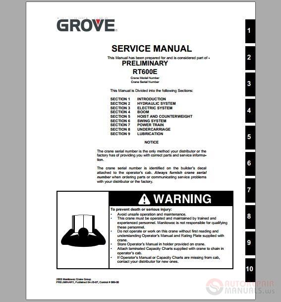 Grove manlift repair
