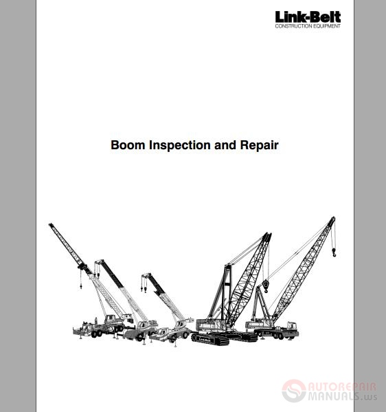 linkbelt boom inspection and repair
