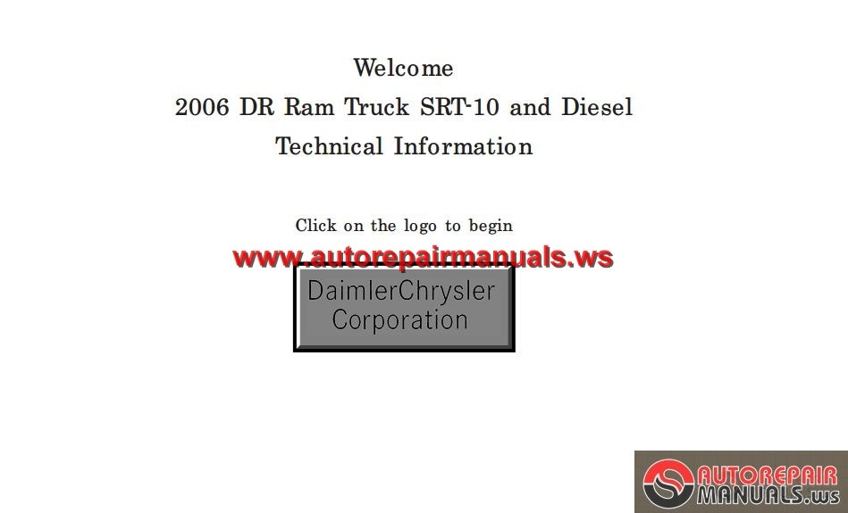 Dodge Ram Service Manual