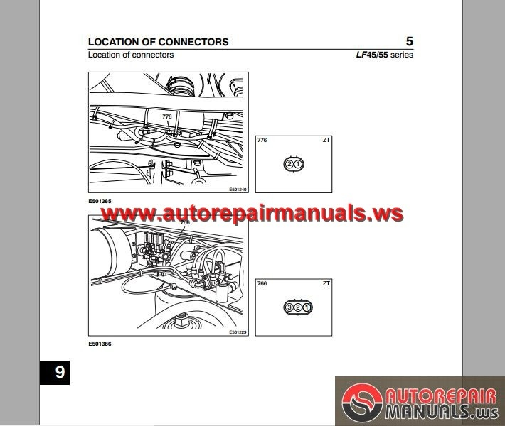 daf lf45 lf55 electrical wiring diagram auto repair manual
