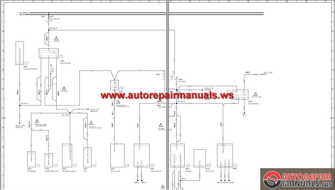 DAF_XF_CF_Euro_4_5_Electrical_Wiring_Diagram2 daf xf cf euro 4, 5 electrical wiring diagram auto repair manual daf xf 95 wiring diagram at nearapp.co