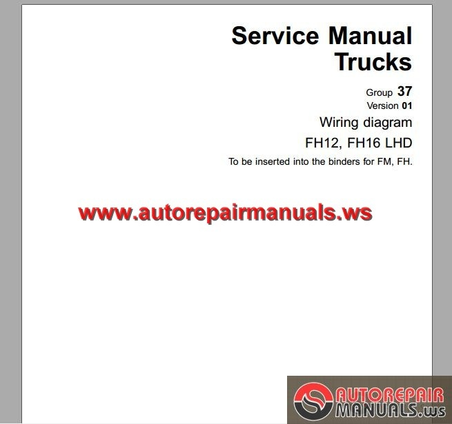 Volvo Truck Fh12 Fh16 1998 Service Manual