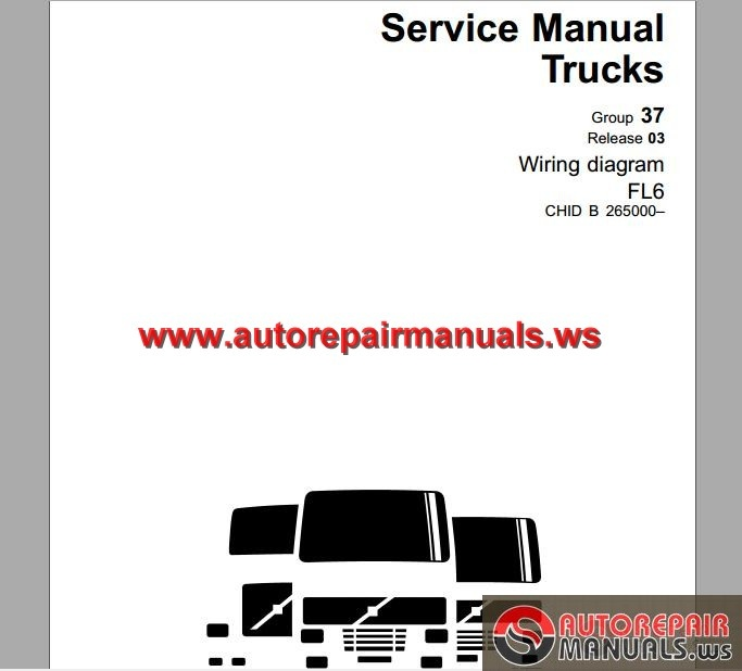 Volvo_Truck_FL_265000 _Service_Manual volvo trucks fl 265000 wiring diagram auto repair manual forum volvo truck wiring diagrams pdf at panicattacktreatment.co