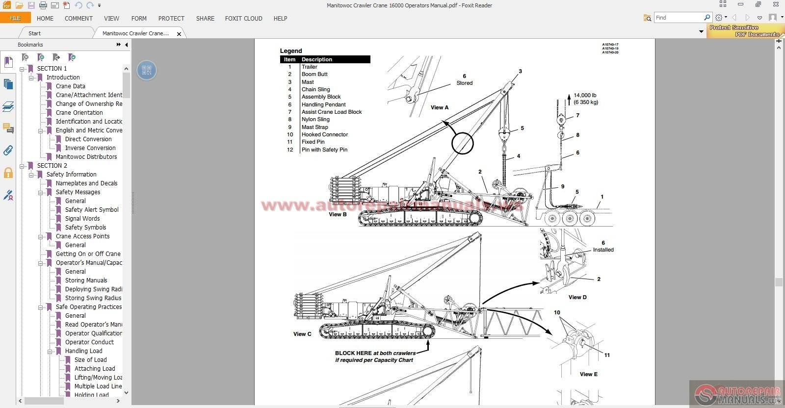 manitowoc crawler crane 16000 operators manual auto