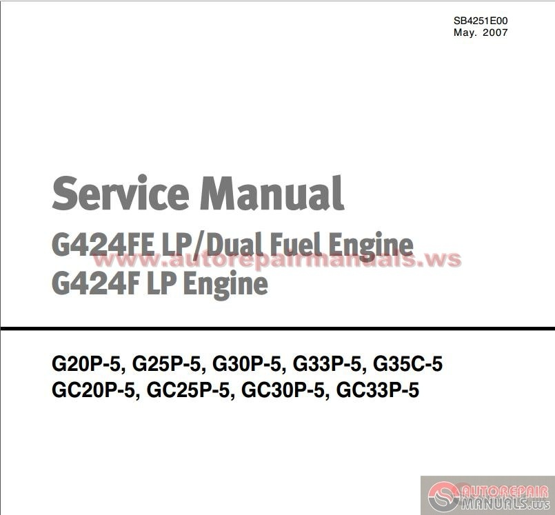 Doosan Forklift Service Manual G424fe Lp  Dual Fuel Engine