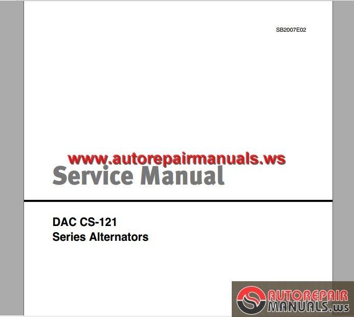 Diesel Engine And Fuel System Repair 5th Edition Download: Daewoo Lift Trucks DaAC CS-121 Series Alternators Service