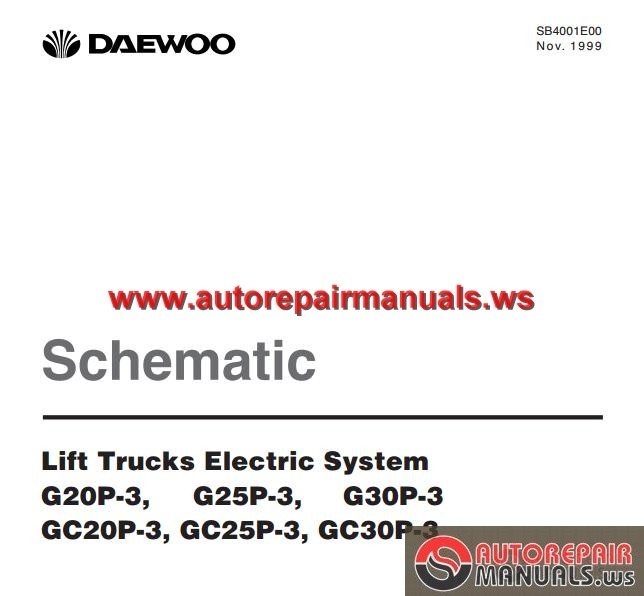 daewoo lift trucks electric system schematic auto repair crown forklift sc4500 wiring diagram