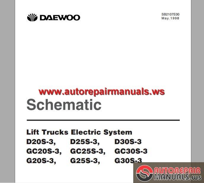 daewoo lift trucks electric system schematic auto repair manual more the random threads same category