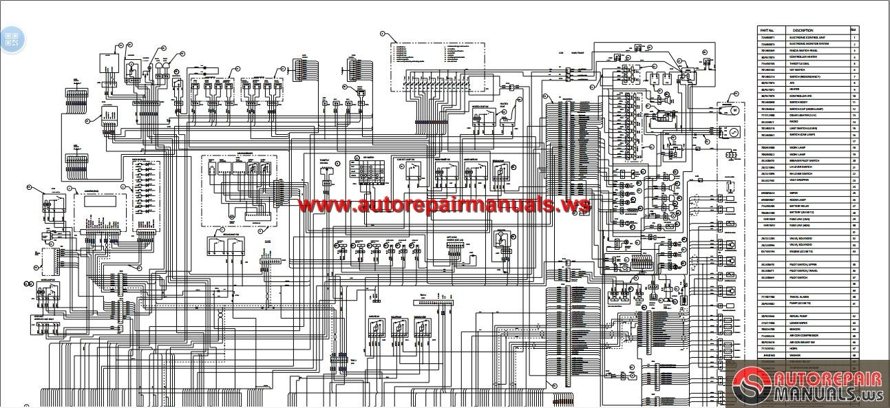 Jcb Excavator Js360 Tier Iii Electrical And Hydraulic Diagram