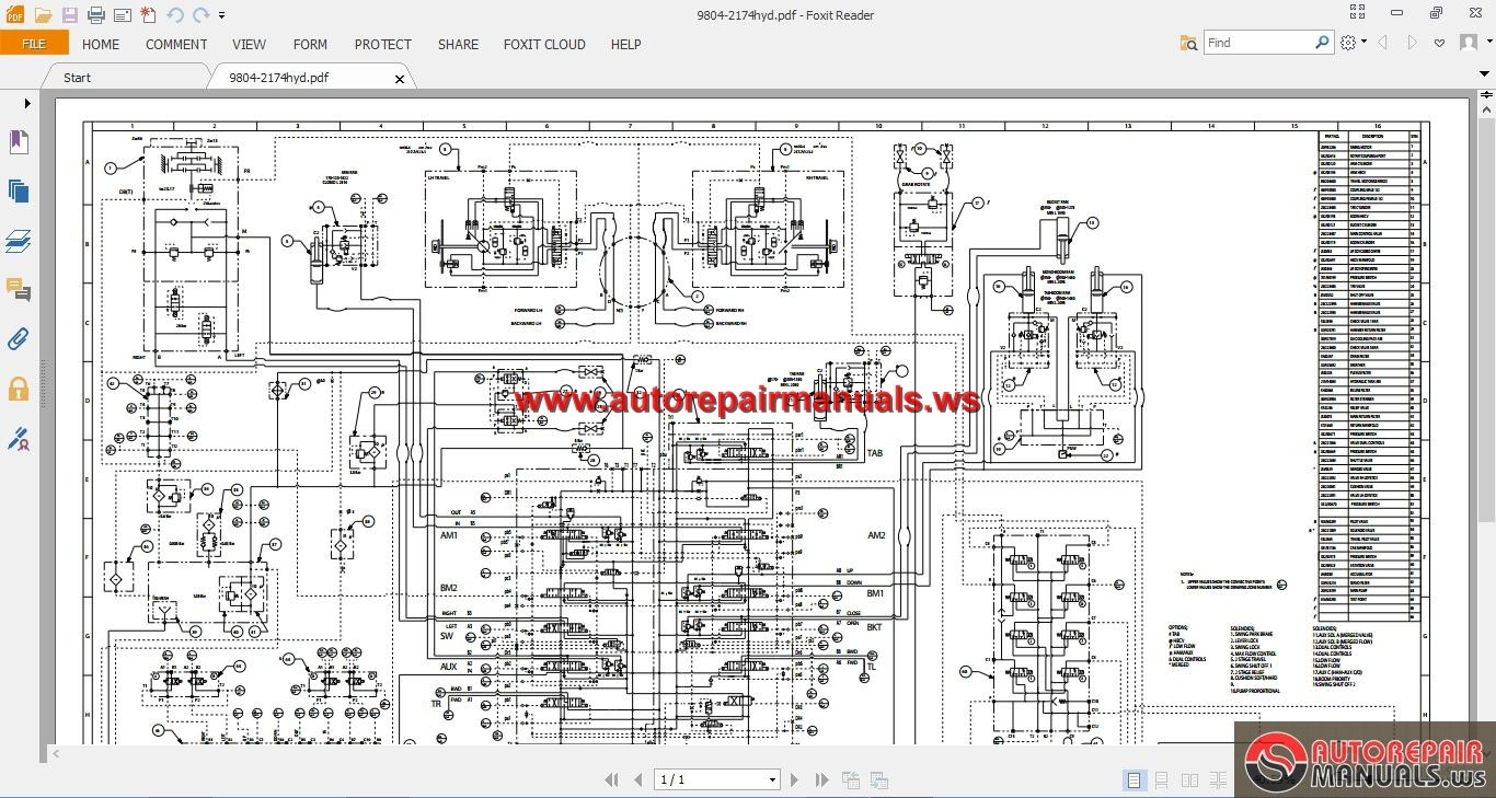 jcb excavator js360 tier iii electrical and hydraulic diagram auto repair manual forum heavy