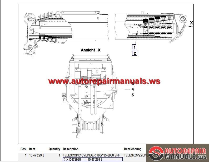 Liebherr Mobile Crane Spare Parts : Liebherr mobile crane ltm spare parts catalogue
