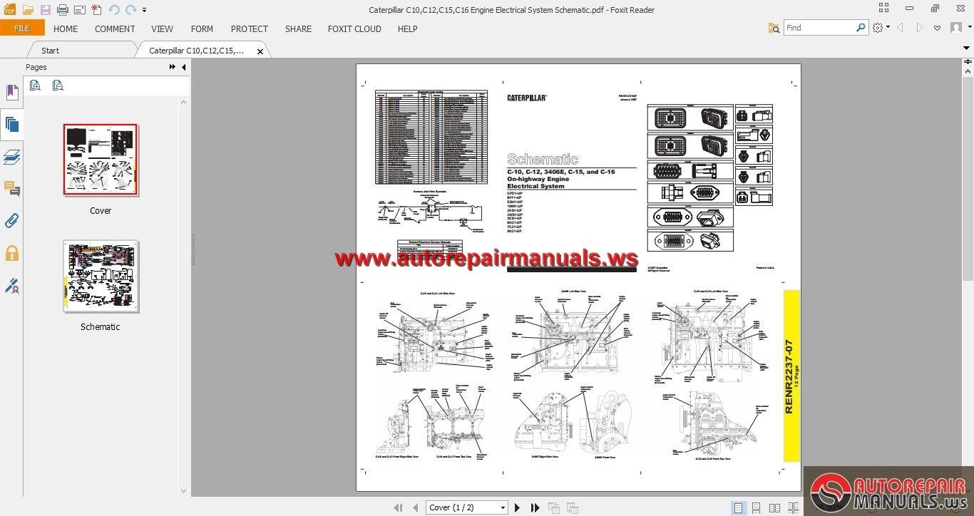 Engine Electrical System : Caterpillar heavy truck diesel engine repair manuals