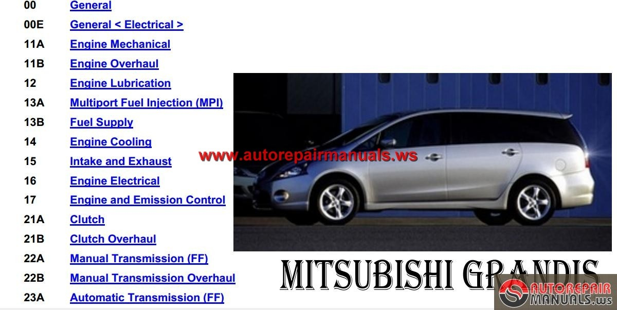 2016 Mitsubishi Grandis