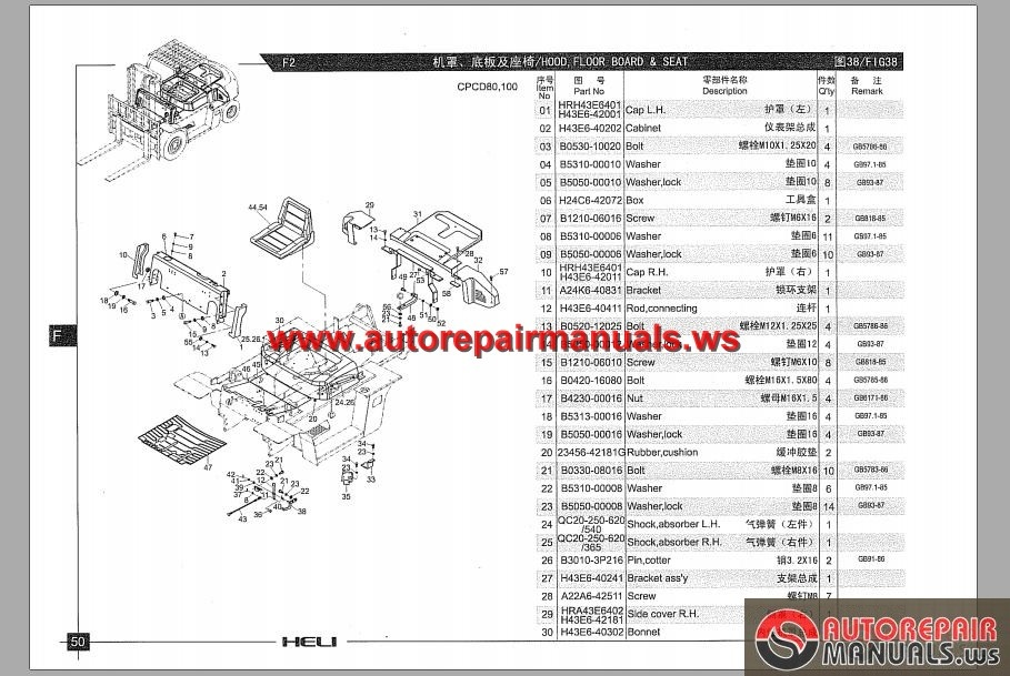 Heli Forklift Truck Parts Catalog Auto Repair Manual Forum Heavy Equipment Forums Download