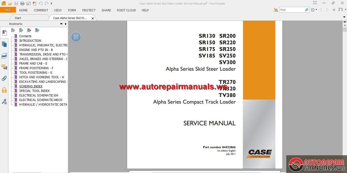 NEW! Case Tv 380 Service Manual Down Load Case_Alpha_Series_Skid_Steer_Loader_Service_Manual