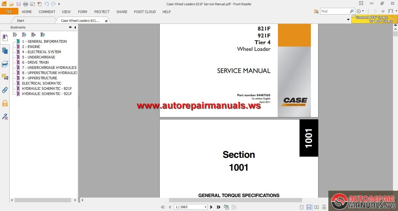 Case_Wheel_Loaders_821F_Service_Manual case wheel loaders 821f service manual auto repair manual forum  at bayanpartner.co