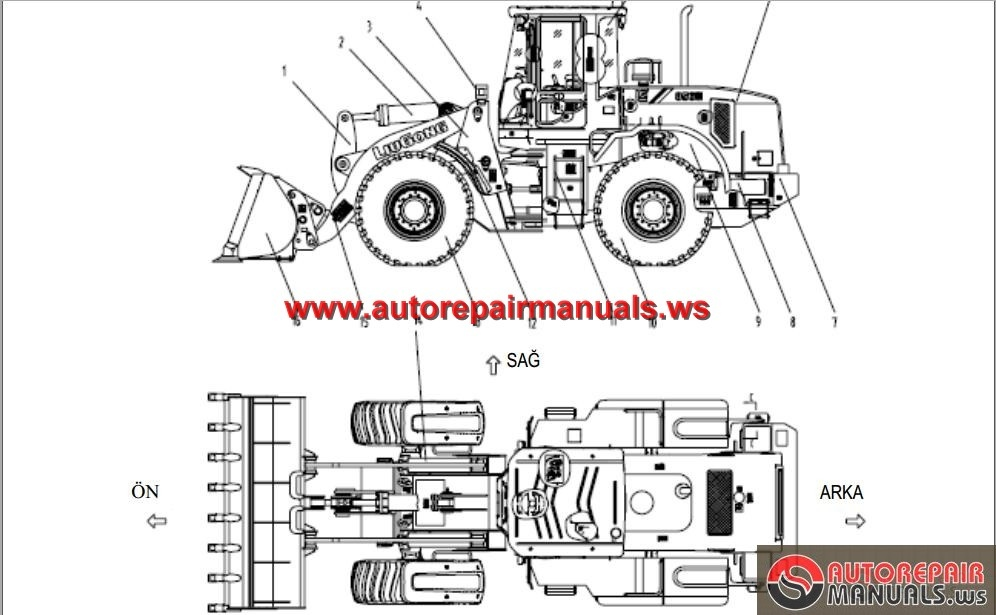 liugong clg856iii wheel loader service manual