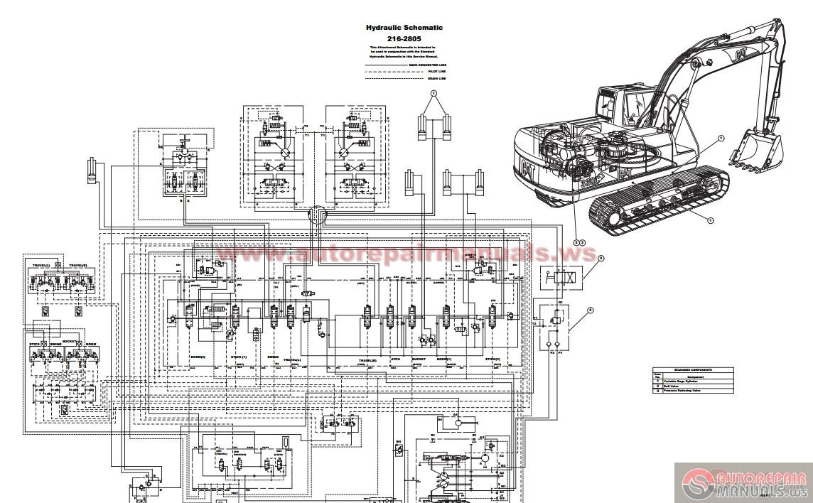 caterpillar  c excavator hydraulic circuit diagram   auto repair    caterpillar  c excavator hydraulic circuit diagram