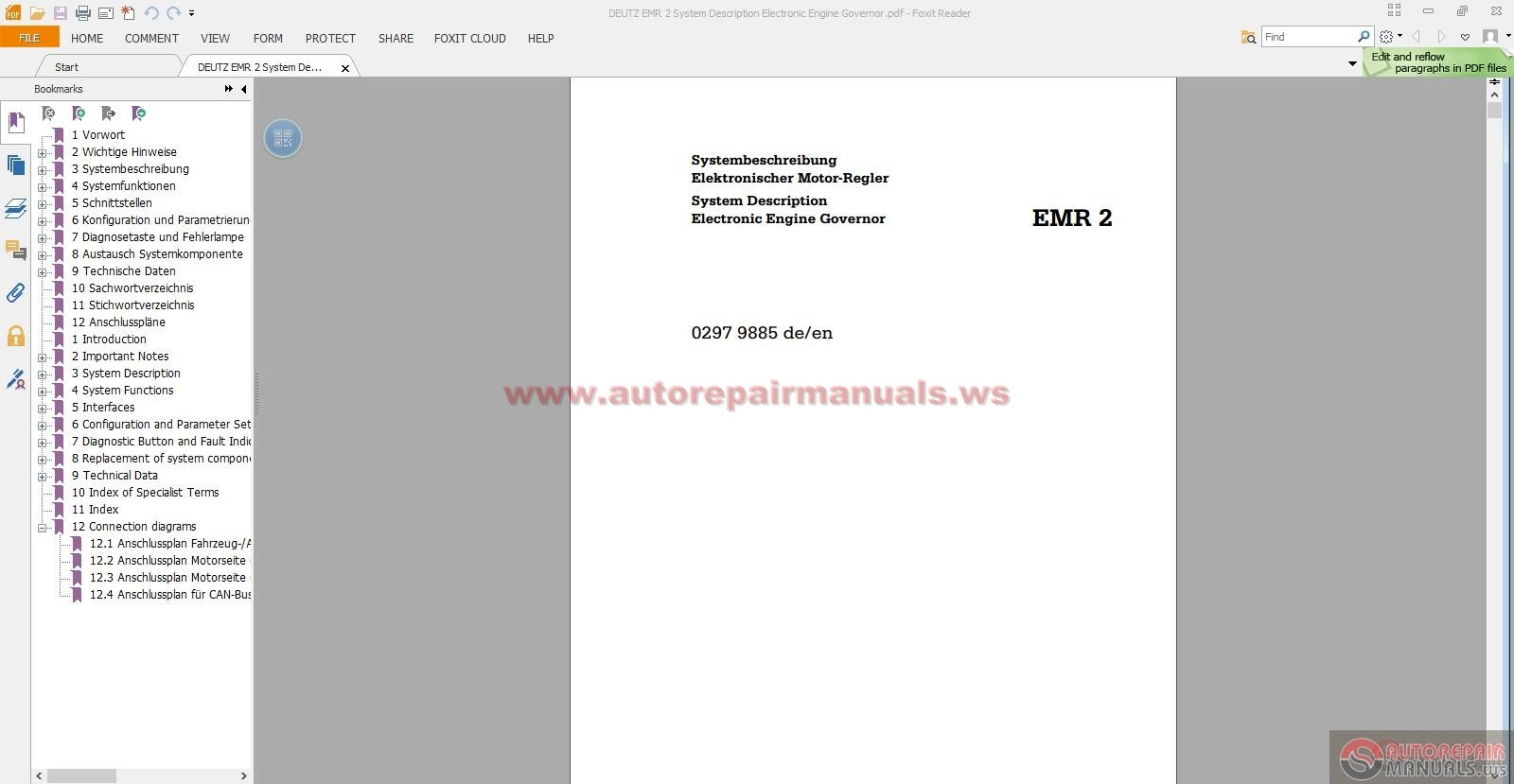 Deutz emr 2 system description electronic engine governor auto deutz emr 2 system description electronic engine governor size 18mb language english type pdf pages 118 sciox Choice Image