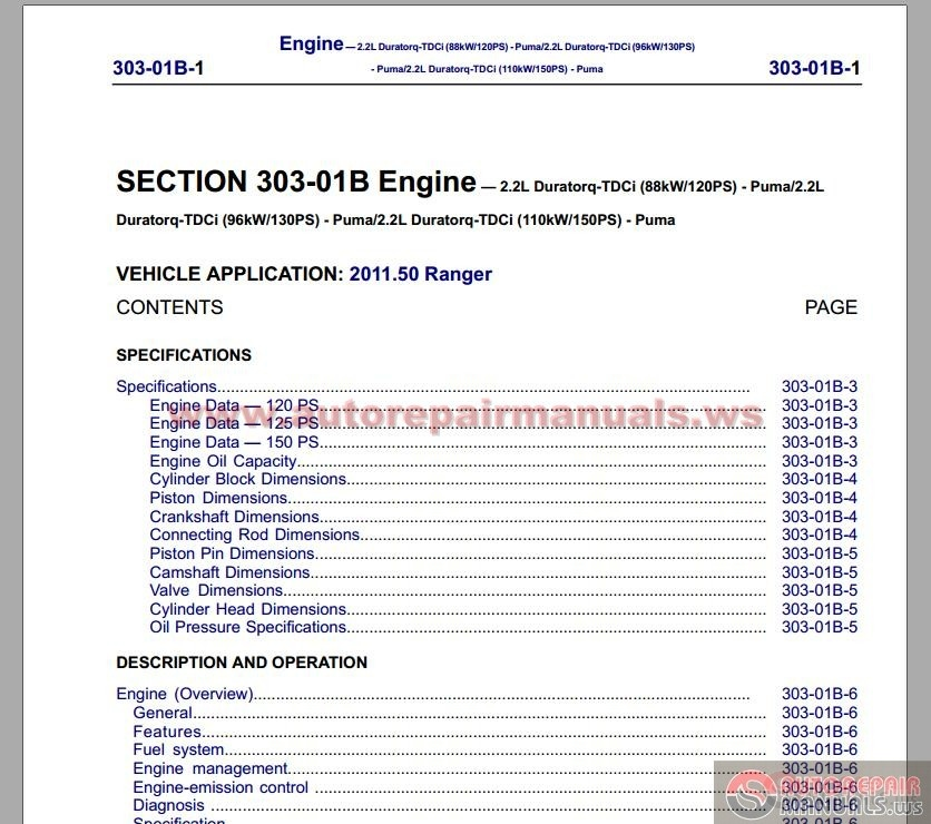 ford ranger 2012 workshop manual auto repair manual. Black Bedroom Furniture Sets. Home Design Ideas