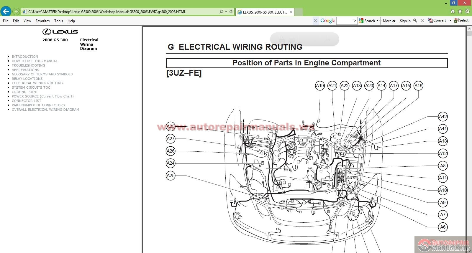Lexus Gs300 2006 Workshop Manual
