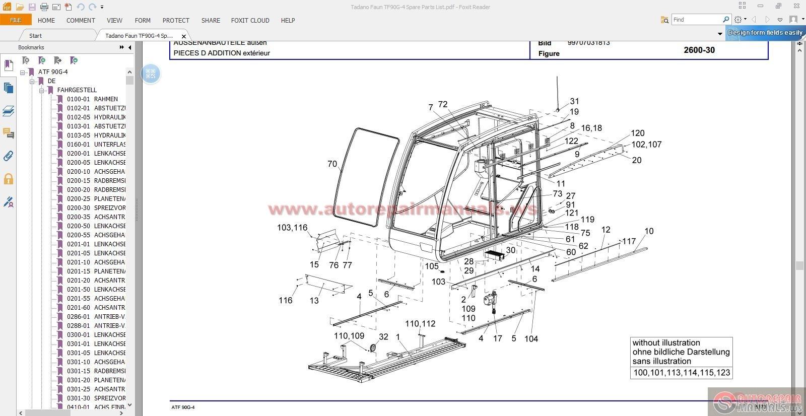 Tadano Crane Spare Parts Uae : Tadano faun atf g spare parts list auto repair manual
