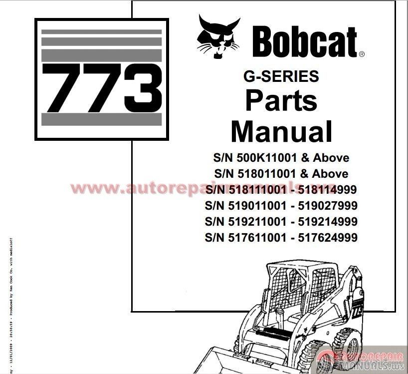 Bobcat_Compact_Mini_Excavator_773_G Series_Parts_Manual bobcat 773 parts manual 100 images bobcat s185 wiring diagram bobcat 773 wiring diagram at couponss.co