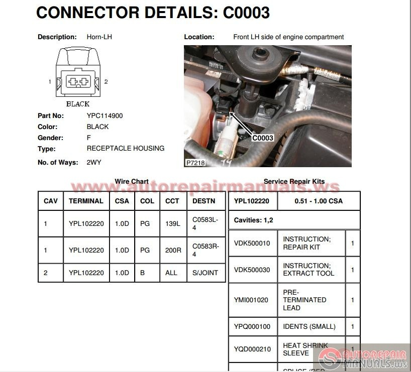 Land Rover Discovery3 LR3 Workshop Manual Auto Repair